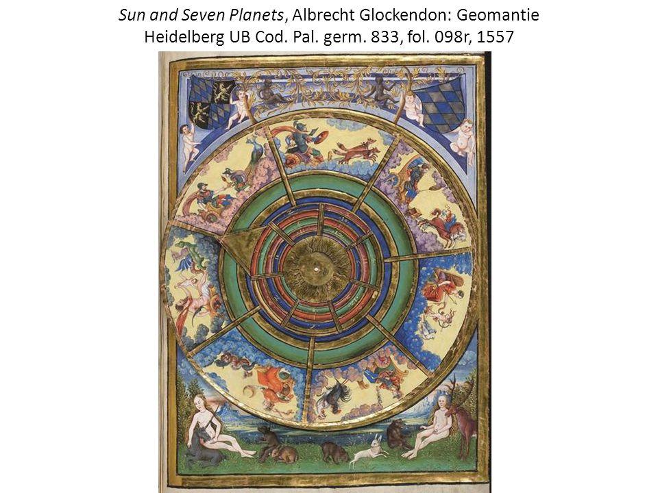 Sun and Seven Planets, Albrecht Glockendon: Geomantie Heidelberg UB Cod.