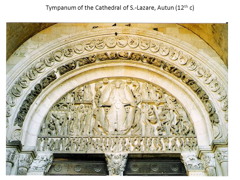 Tympanum of the Cathedral of S.-Lazare, Autun (12 th c)