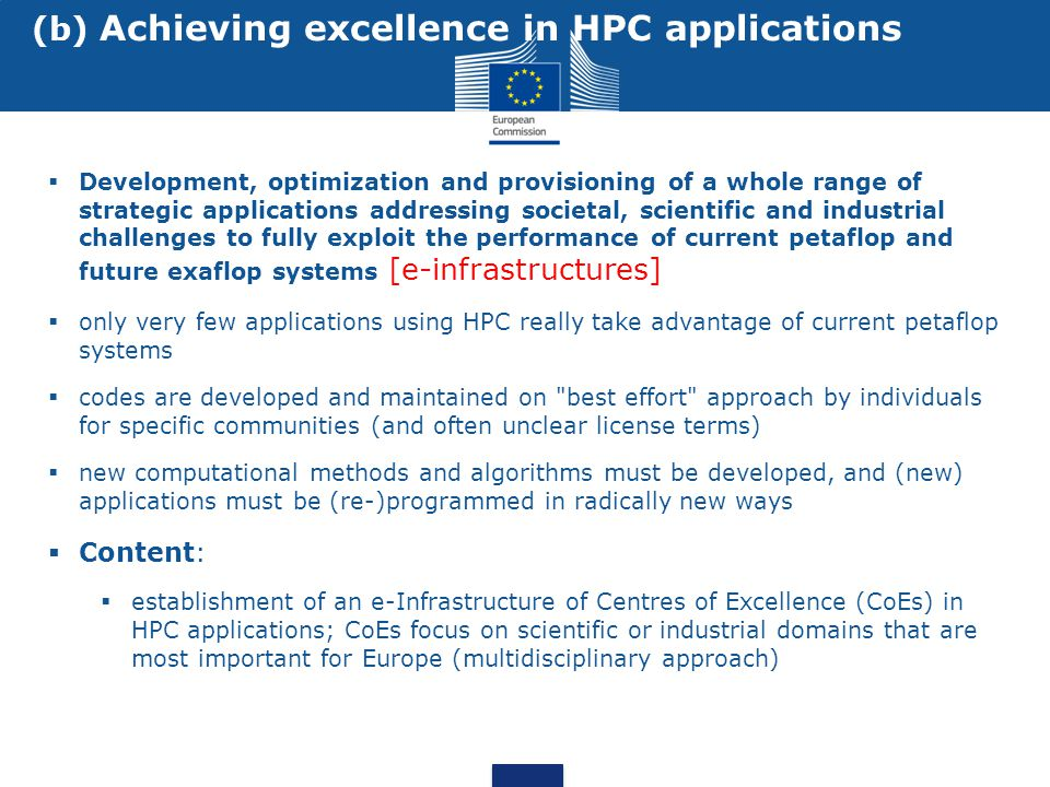  Development, optimization and provisioning of a whole range of strategic applications addressing societal, scientific and industrial challenges to f