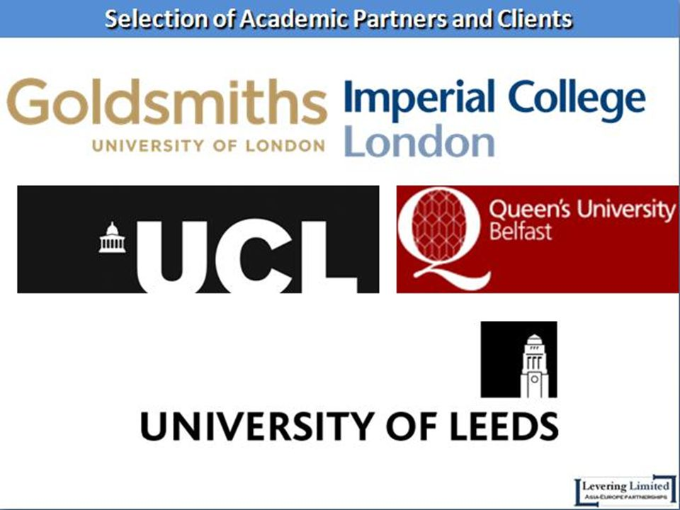 Selection of Academic Partners and Clients