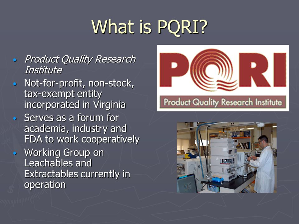 What is PQRI.