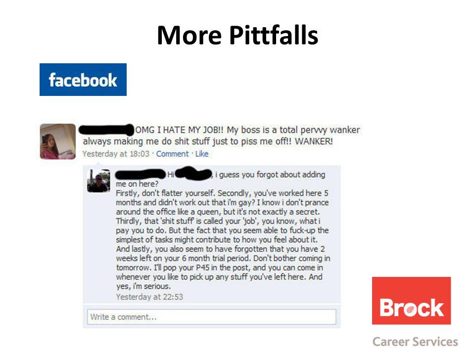 More Pittfalls