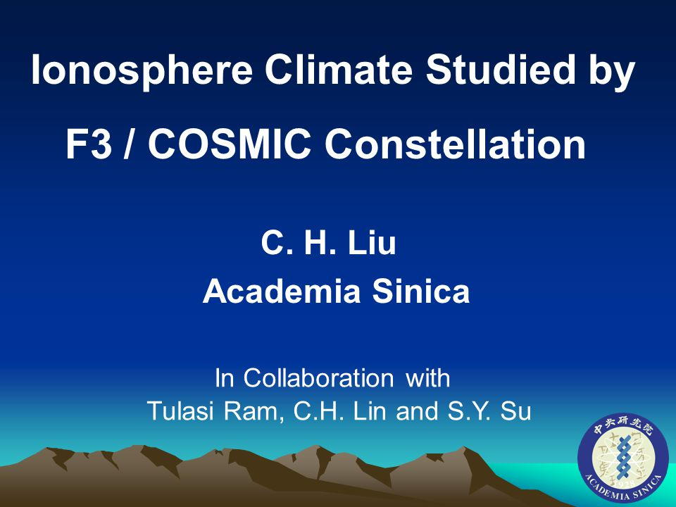 Ionosphere Climate Studied by F3 / COSMIC Constellation C.