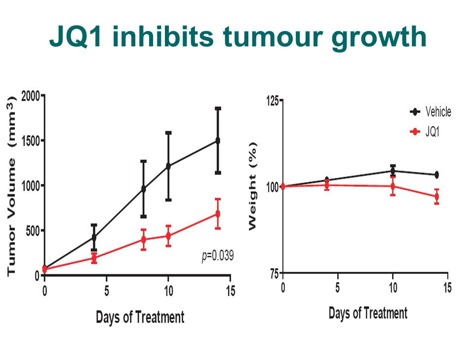 JQ1 inhibits tumour growth
