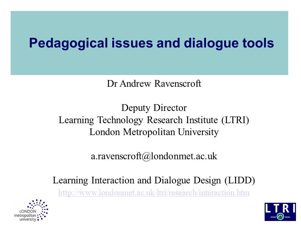 Why use InterLoc.i. Collaborative exercises in 'digital discourse' ii.