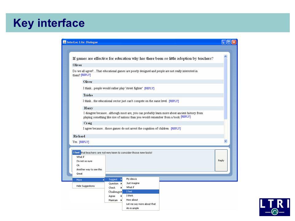 Key interface
