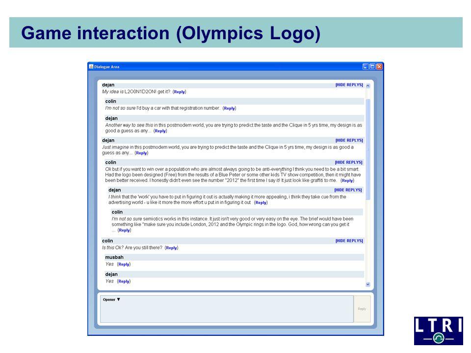 Game interaction (Olympics Logo)