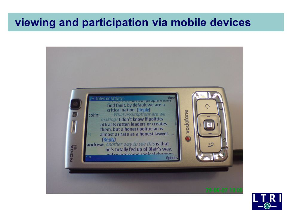 viewing and participation via mobile devices