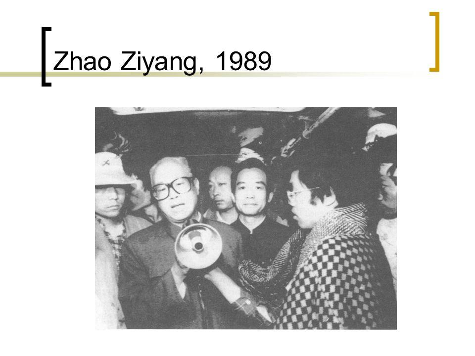 Zhao Ziyang, 1989