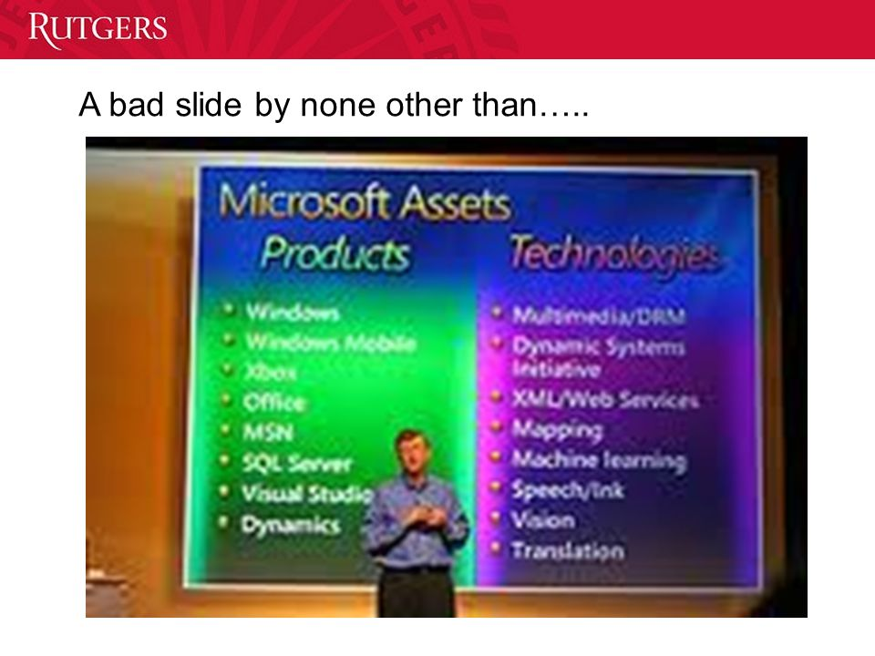 A bad slide by none other than…..