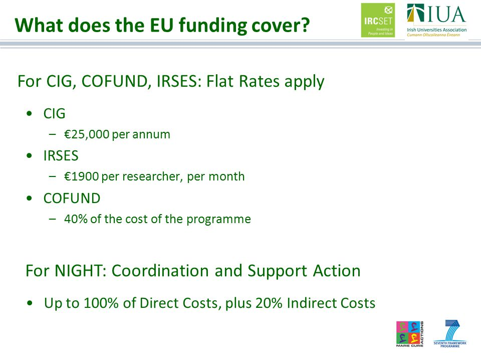 What does the EU funding cover.