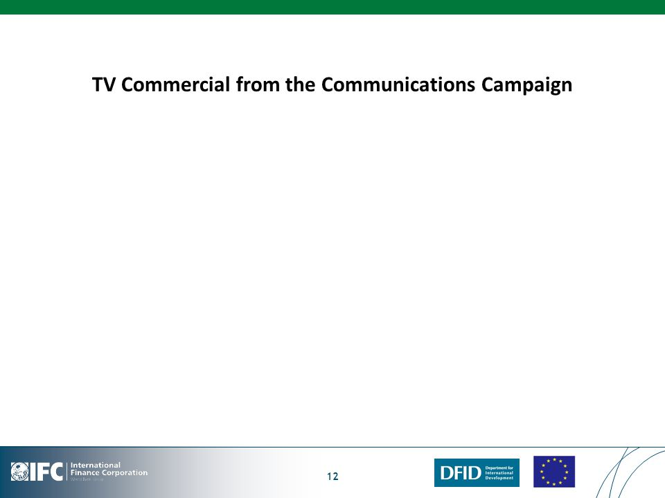 TV Commercial from the Communications Campaign 12