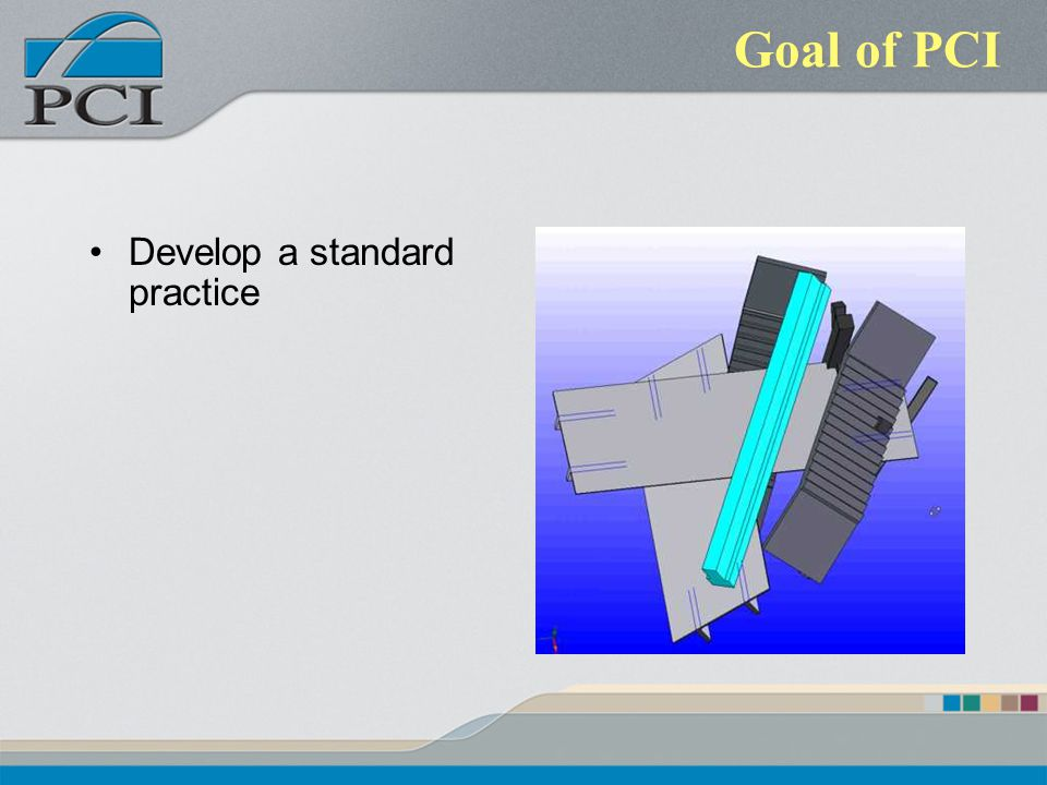 Goal of PCI Develop a standard practice