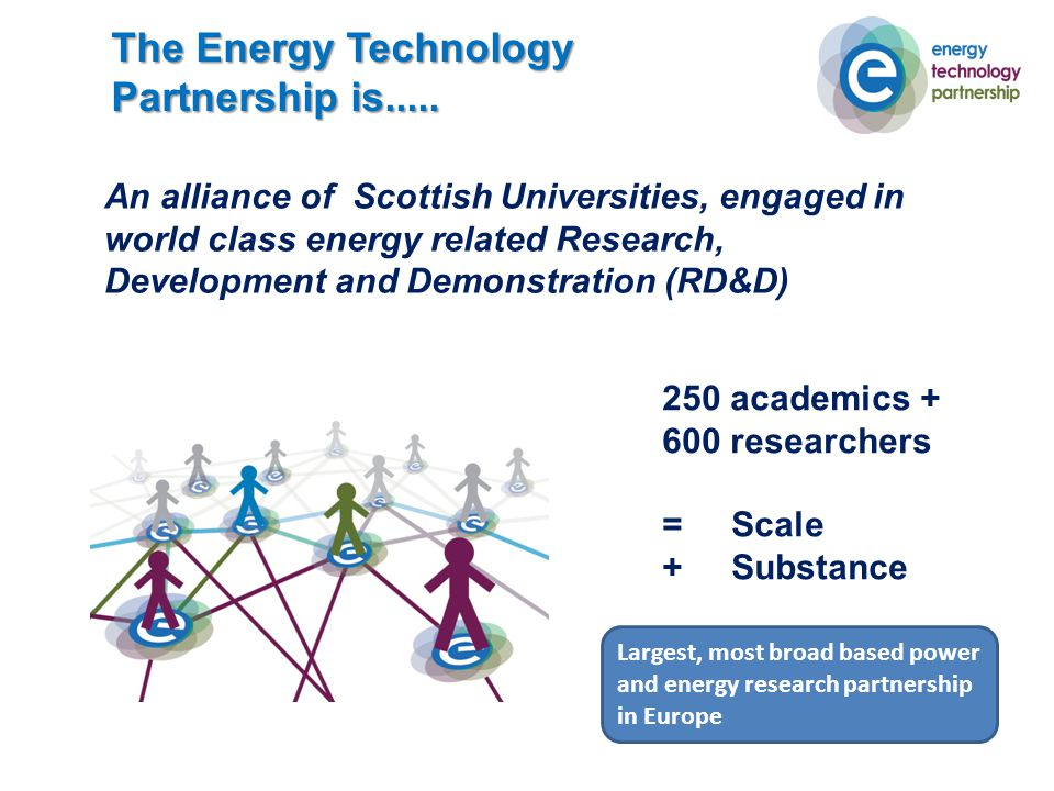 The Energy Technology Partnership is.....
