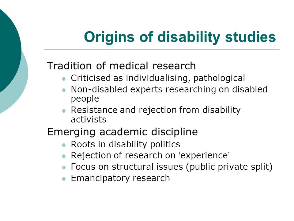 Research which changed Britain  Colin Barnes research for BCODP: Disabled People in Britain and Discrimination, 1991.