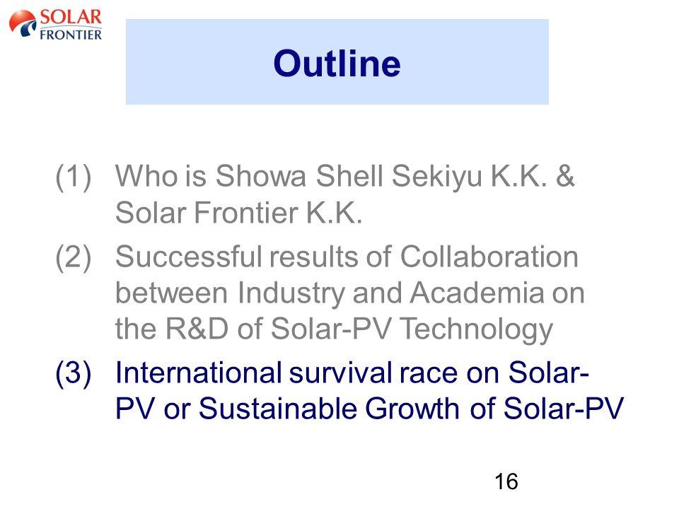 16 Outline (1)Who is Showa Shell Sekiyu K.K. & Solar Frontier K.K.