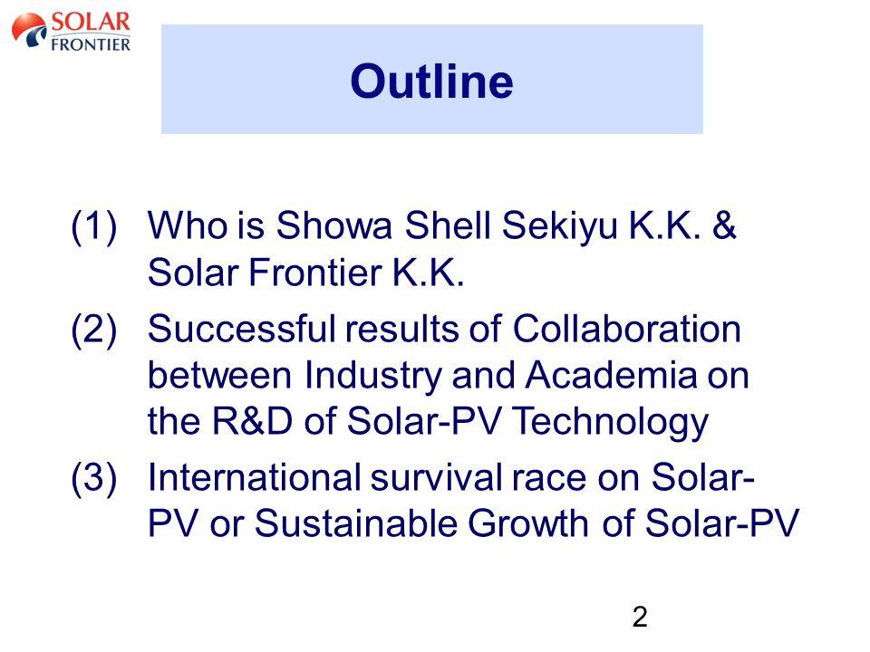 2 Outline (1)Who is Showa Shell Sekiyu K.K. & Solar Frontier K.K.