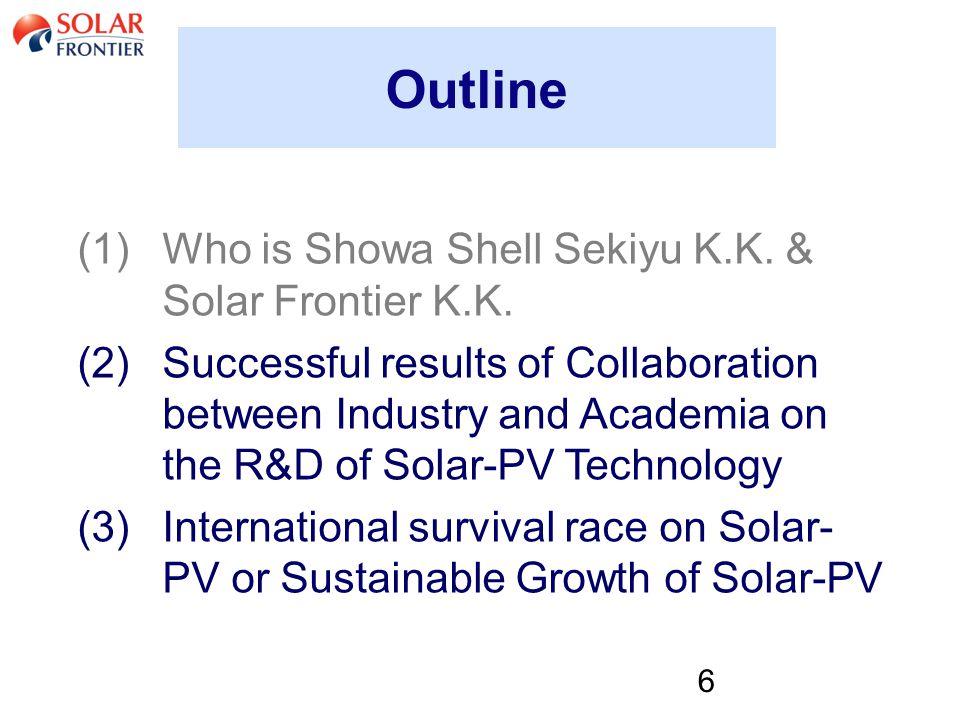 6 Outline (1)Who is Showa Shell Sekiyu K.K. & Solar Frontier K.K.