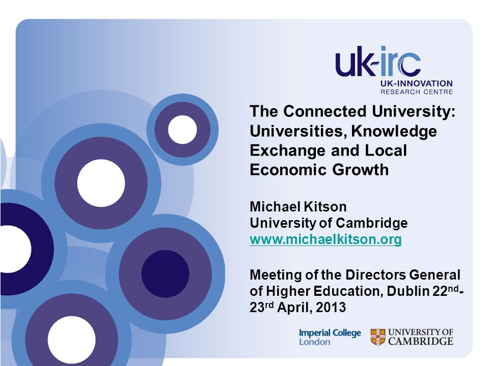 Academic and business perceptions of constraints on interactions Source: Cambridge Centre For Business Research Survey Of Knowledge Exchange Activity By United Kingdom Businesses, 2005-2009 (Hughes, A., Kitson, M., Abreu, M., Grinevich, V., Bullock, A.