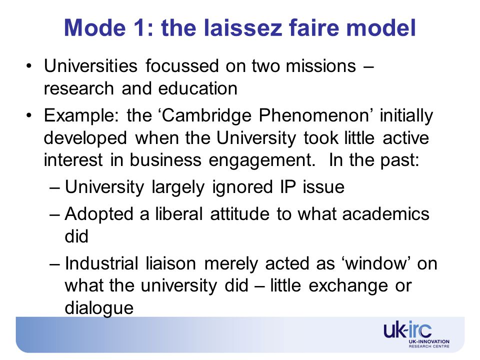 Implications for policy 5 The short-termism problem – focus on research with an 'economic impact'