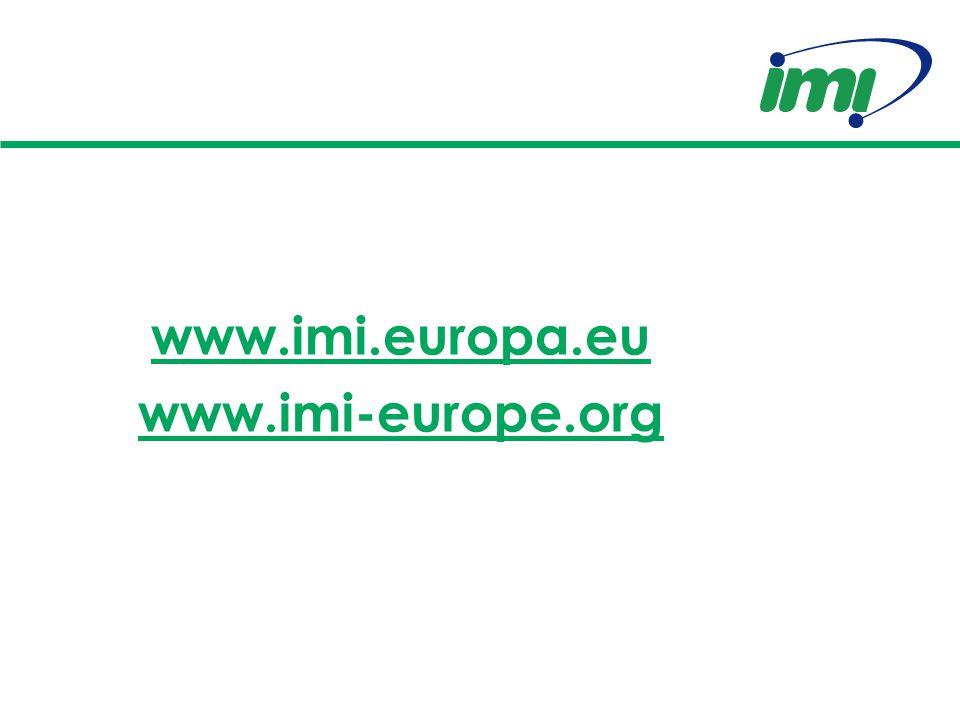 www.imi.europa.eu www.imi-europe.org