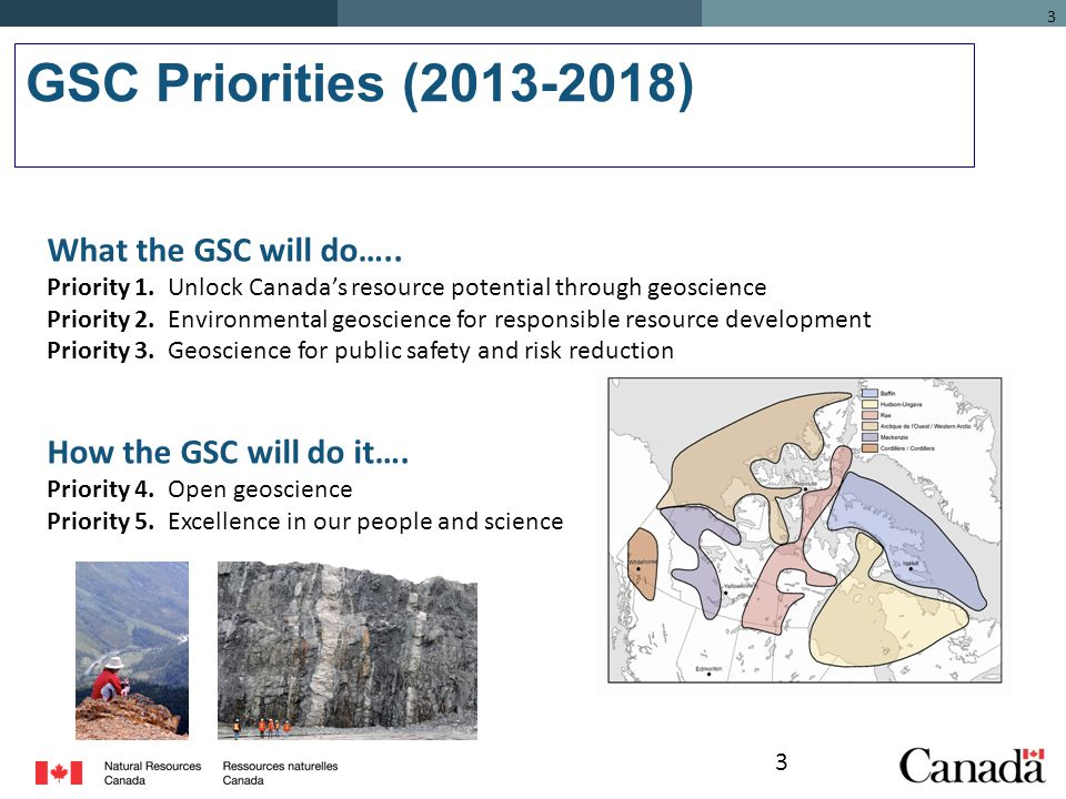 3 GSC Priorities (2013-2018) 3 What the GSC will do…..