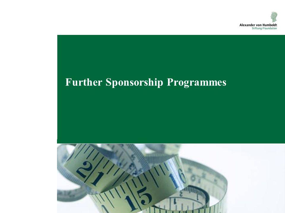 Further Sponsorship Programmes