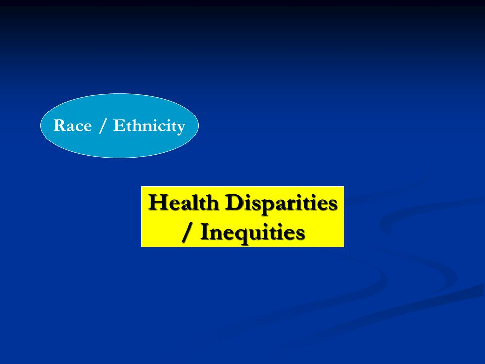Health Disparities / Inequities Race / Ethnicity