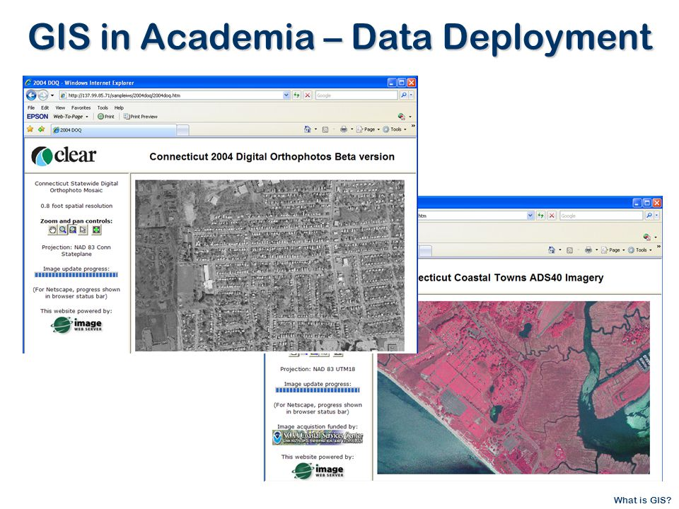 What is GIS GIS in Academia – Data Deployment