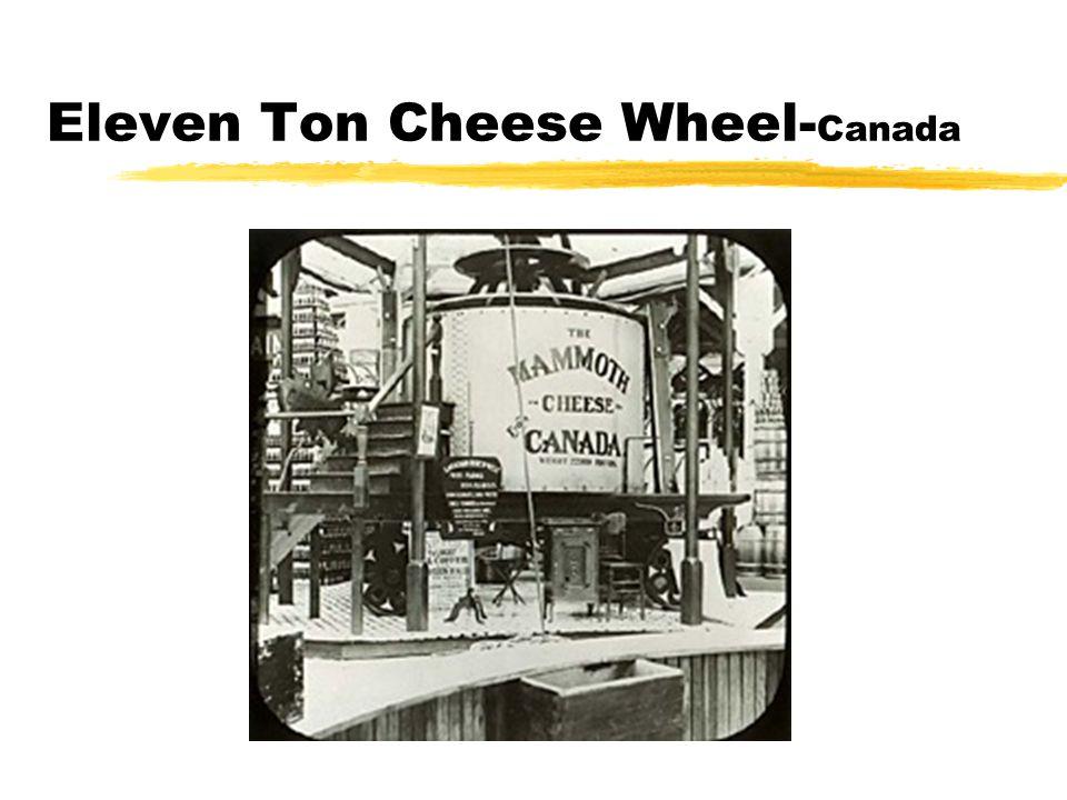 Eleven Ton Cheese Wheel- Canada