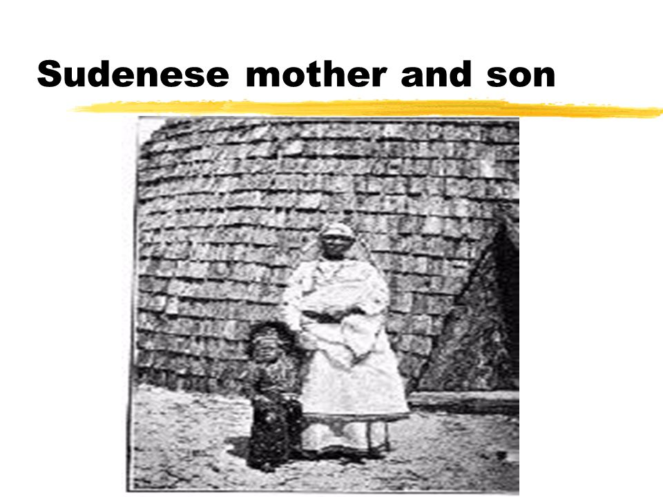 Sudenese mother and son
