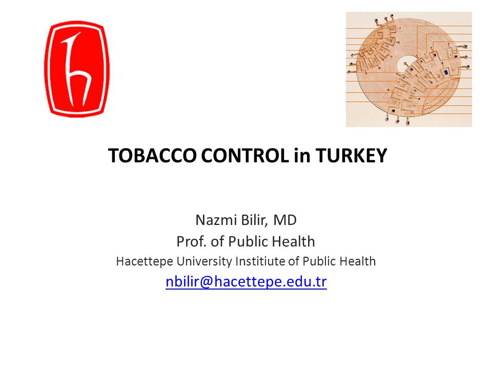 TOBACCO CONTROL in TURKEY Nazmi Bilir, MD Prof.