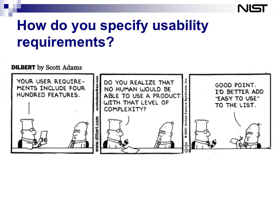 How do you specify usability requirements?