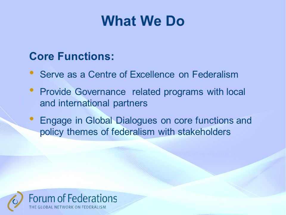 Learning Activities in Partner Federations Switzerland; The Forum has worked with the Swiss government in many ways.
