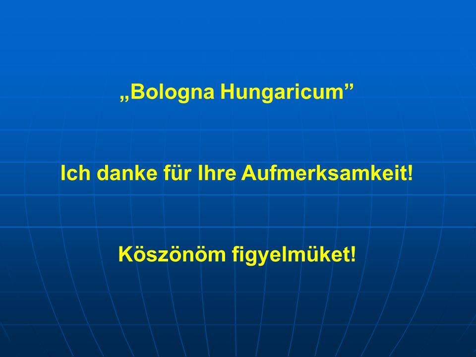 """""""Bologna Hungaricum Ich danke für Ihre Aufmerksamkeit! Köszönöm figyelmüket!"""