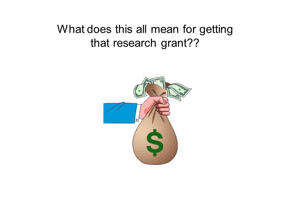 What does this all mean for getting that research grant??