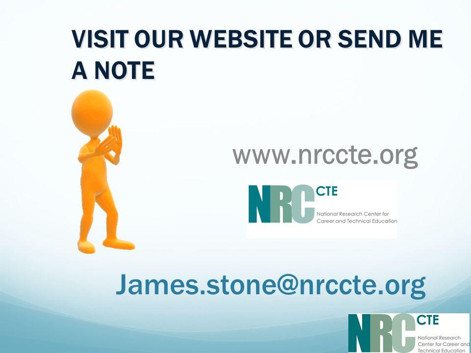 James.stone@nrccte.org www.nrccte.org VISIT OUR WEBSITE OR SEND ME A NOTE