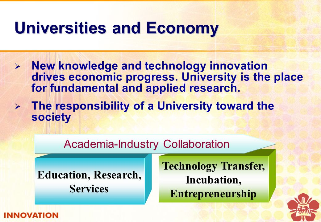  New knowledge and technology innovation drives economic progress.