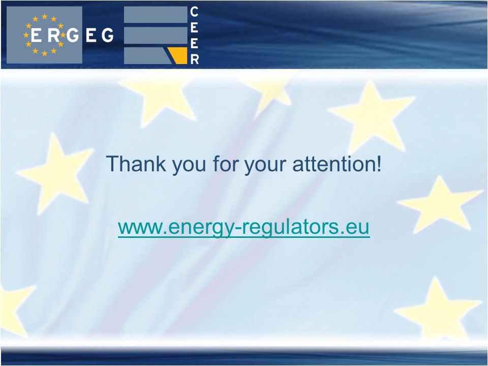 Thank you for your attention! www.energy-regulators.eu