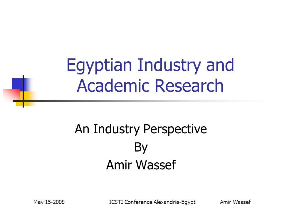 ICSTI Conference Alexandria-Egypt Amir Wassef May 15-2008 Development of Economies