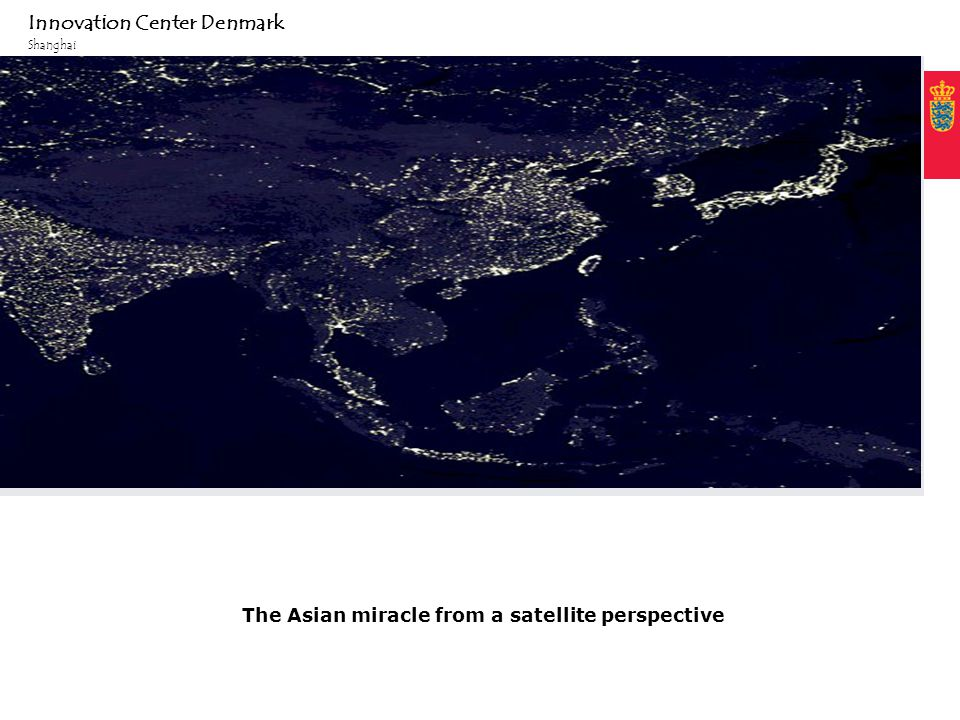 Fixed text margin Minimum clear margin for text Innovation Center Denmark Shanghai The Asian miracle from a satellite perspective