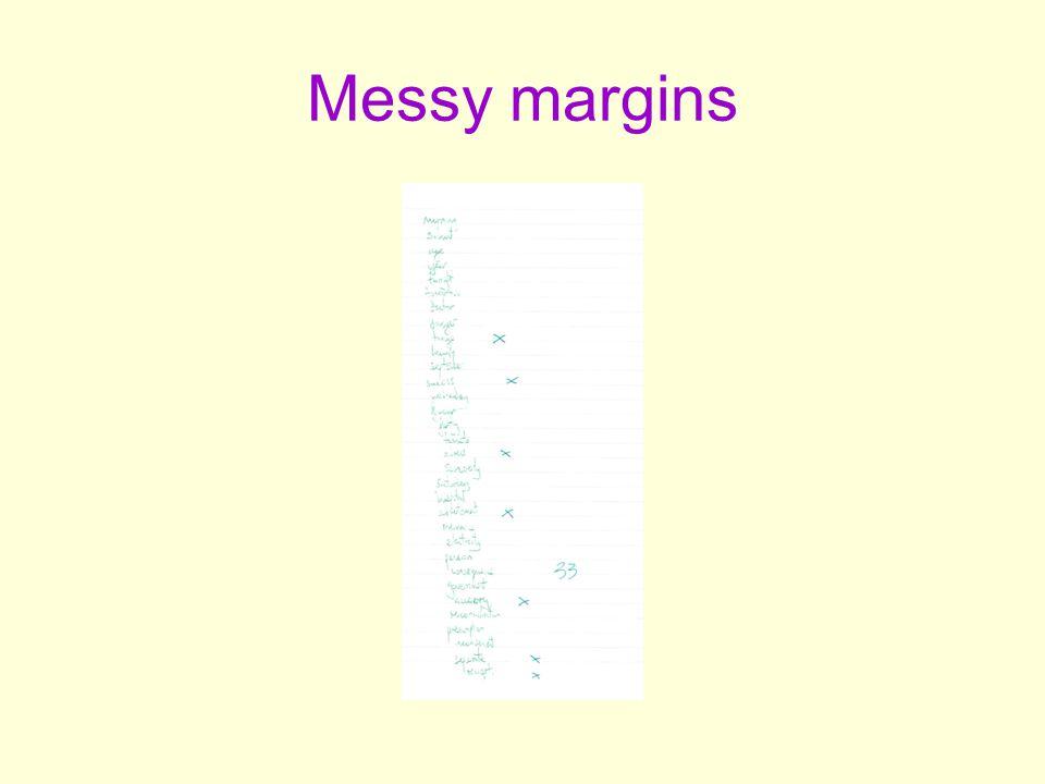 Messy margins