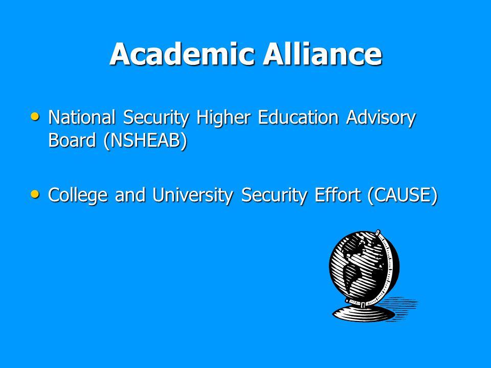Academic Alliance National Security Higher Education Advisory Board (NSHEAB) National Security Higher Education Advisory Board (NSHEAB) College and Un