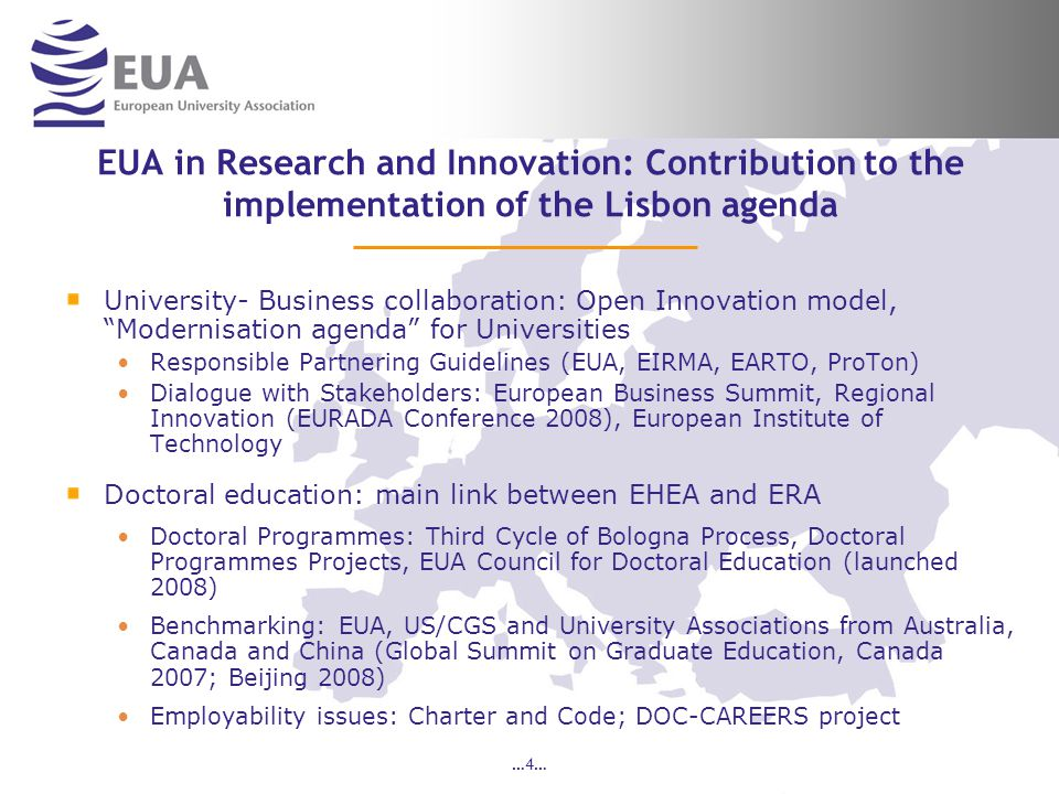 …25… Next phase of DOC-CAREERS Areas for further action are currently being considered by EUA on how universities work with partners within their region in doctoral education and their strategies for the recruitment and retention of doctoral candidates and holders.