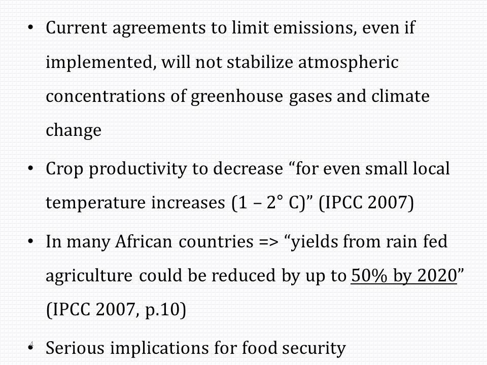 How would the future look like? (IPCC, 2007)