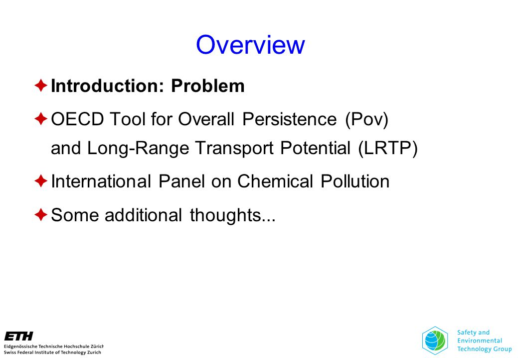 Is Chemical Pollution Serious on a Global Scale.