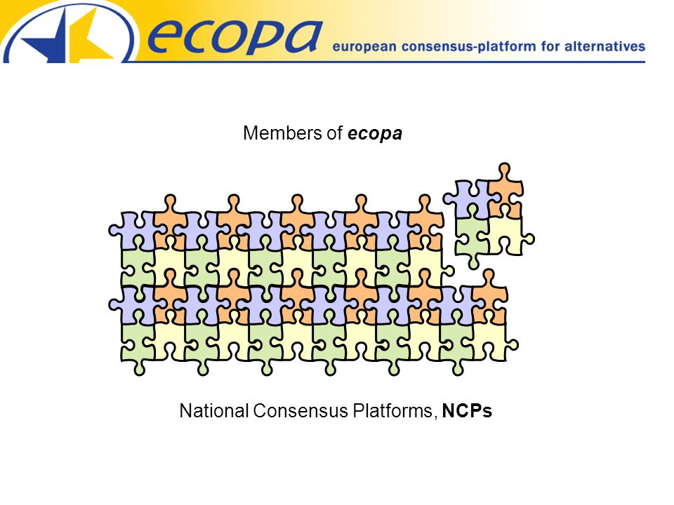 National Consensus Platforms, NCPs Members of ecopa