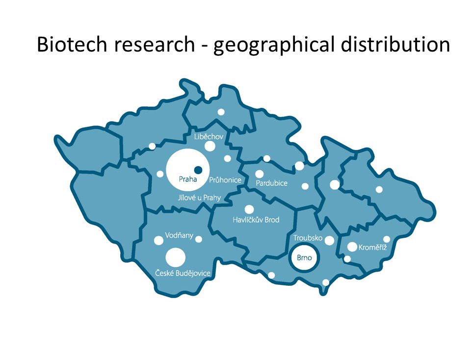 Biotech research - geographical distribution