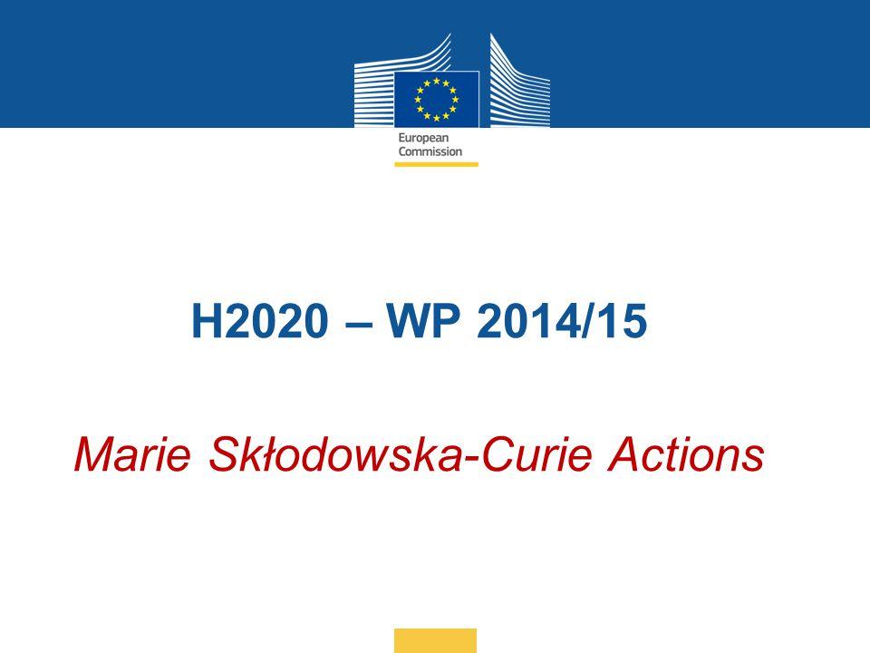 H2020 – WP 2014/15 Marie Skłodowska-Curie Actions