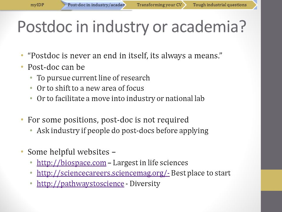 Postdoc in industry or academia.